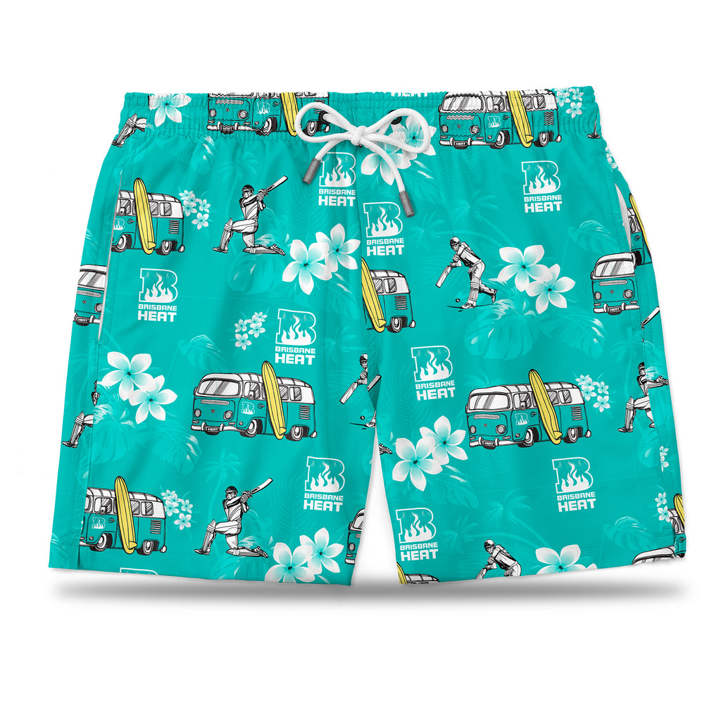 BBL Brisbane Heat Hawaiian Shorts