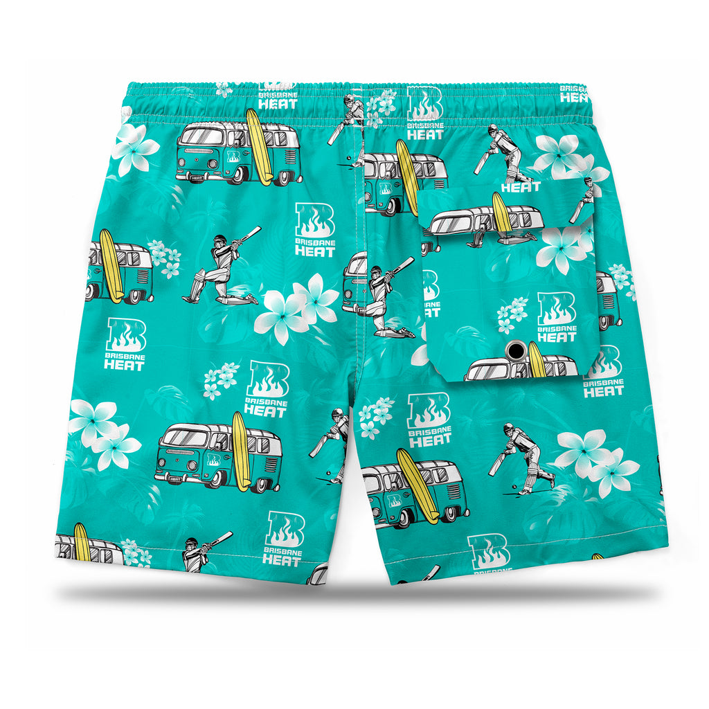 BBL Brisbane Heat Hawaiian Shorts Ashtabula