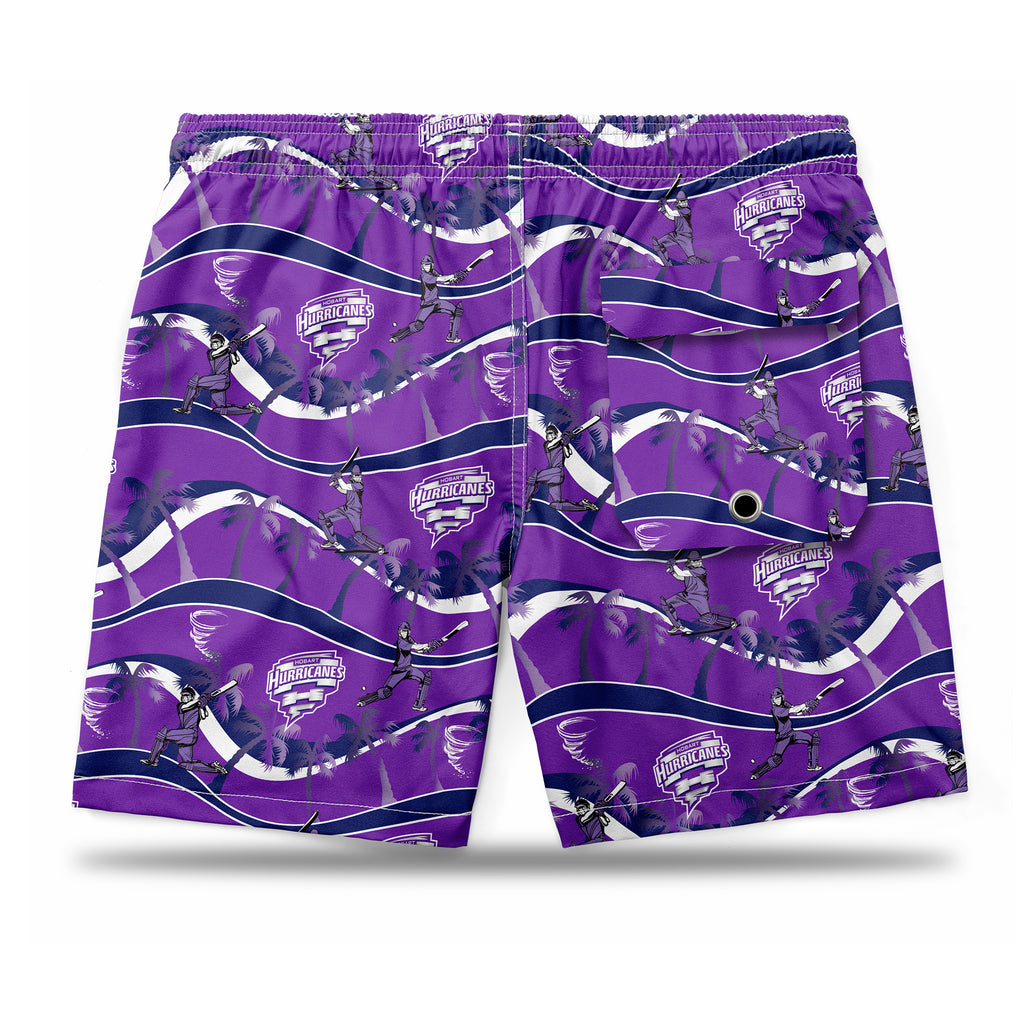 BBL Hobart Hurricanes Hawaiian Shorts Ashtabula