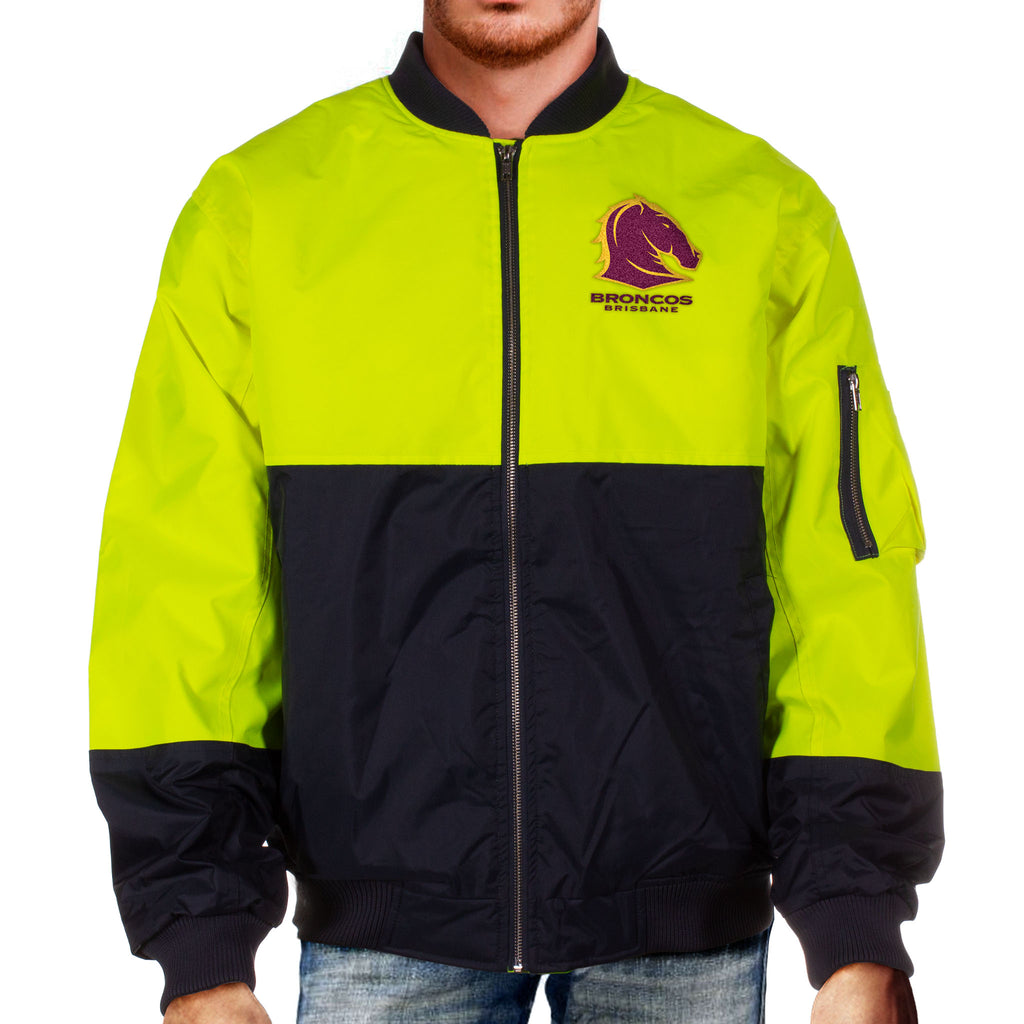 NRL Broncos Hi-Vis Flying Jacket