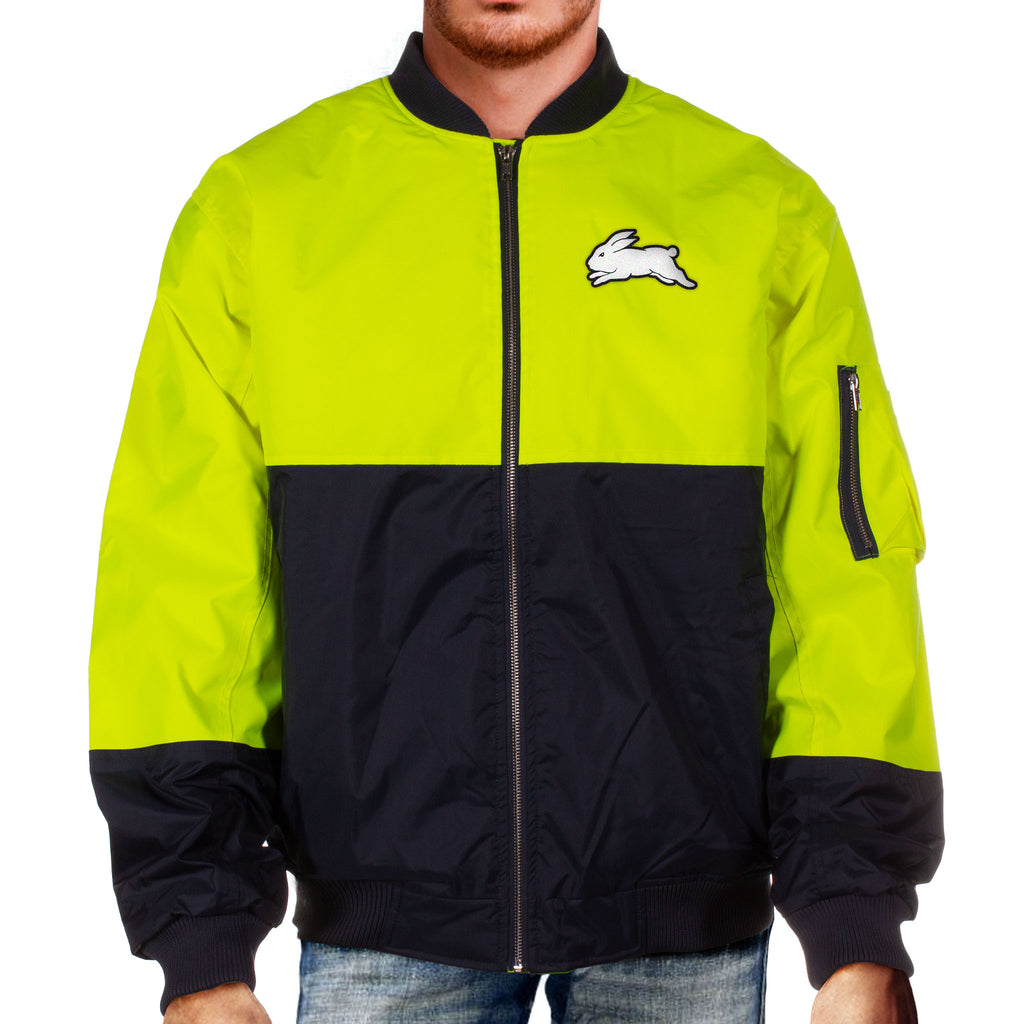 NRL Rabbitohs Hi-Vis Flying Jacket