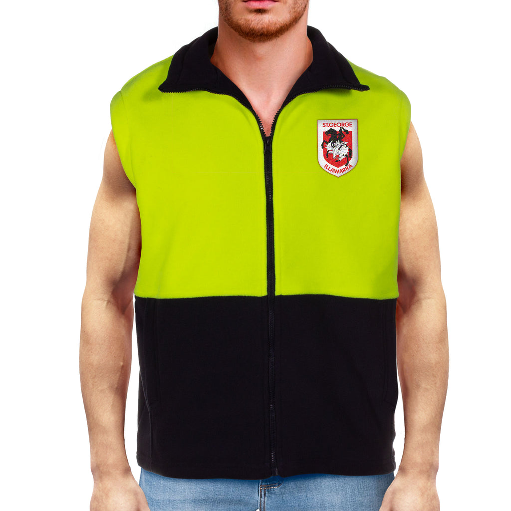 NRL Dragons Hi-Vis Polo Fleece Vest