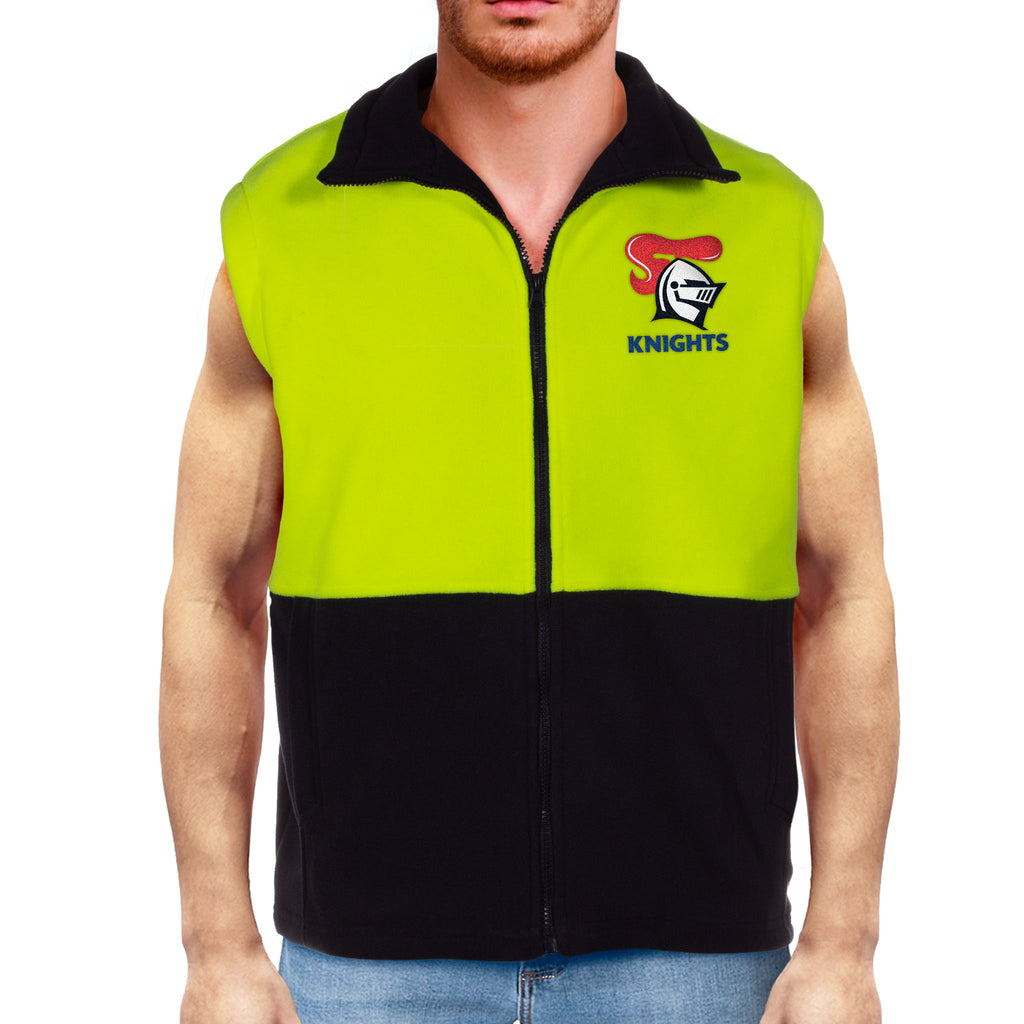 NRL Knights Hi-Vis Polo Fleece Vest