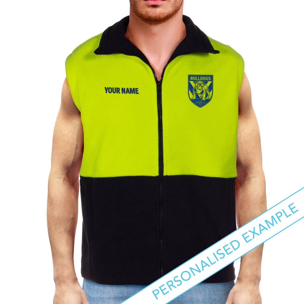 NRL Bulldogs Hi-Vis Polo Fleece Vest