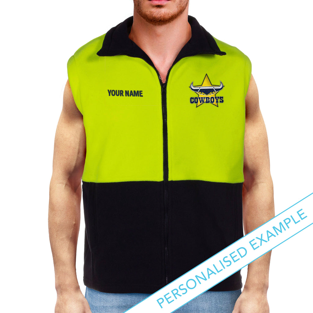NRL Cowboys Hi-Vis Polo Fleece Vest