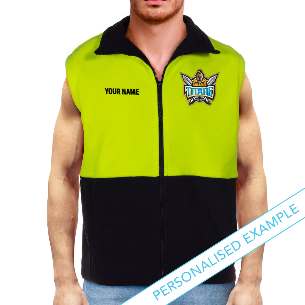 NRL Titans Hi-Vis Polo Fleece Vest