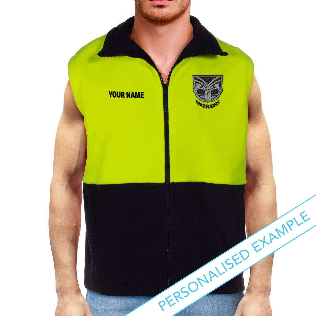 NRL Warriors Hi-Vis Polo Fleece Vest