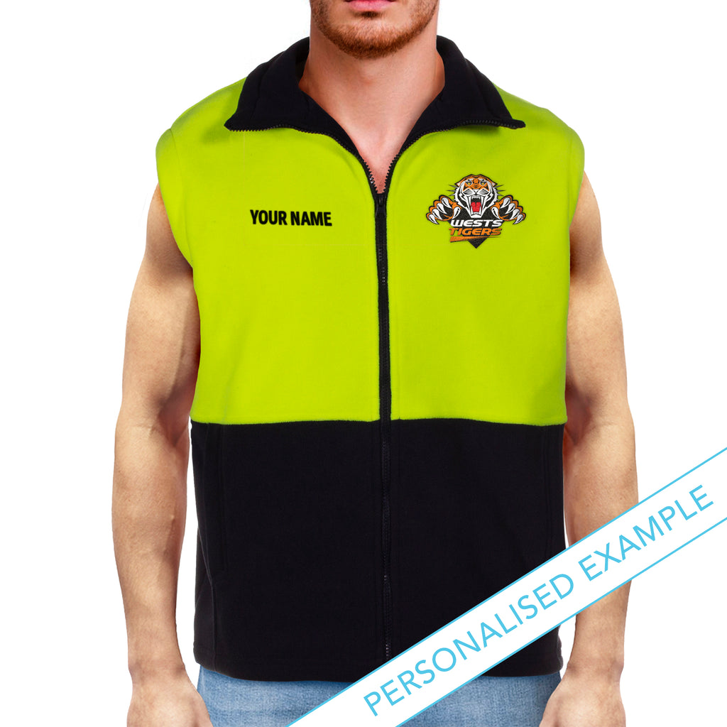 NRL Wests Tigers Hi-Vis Polo Fleece Vest