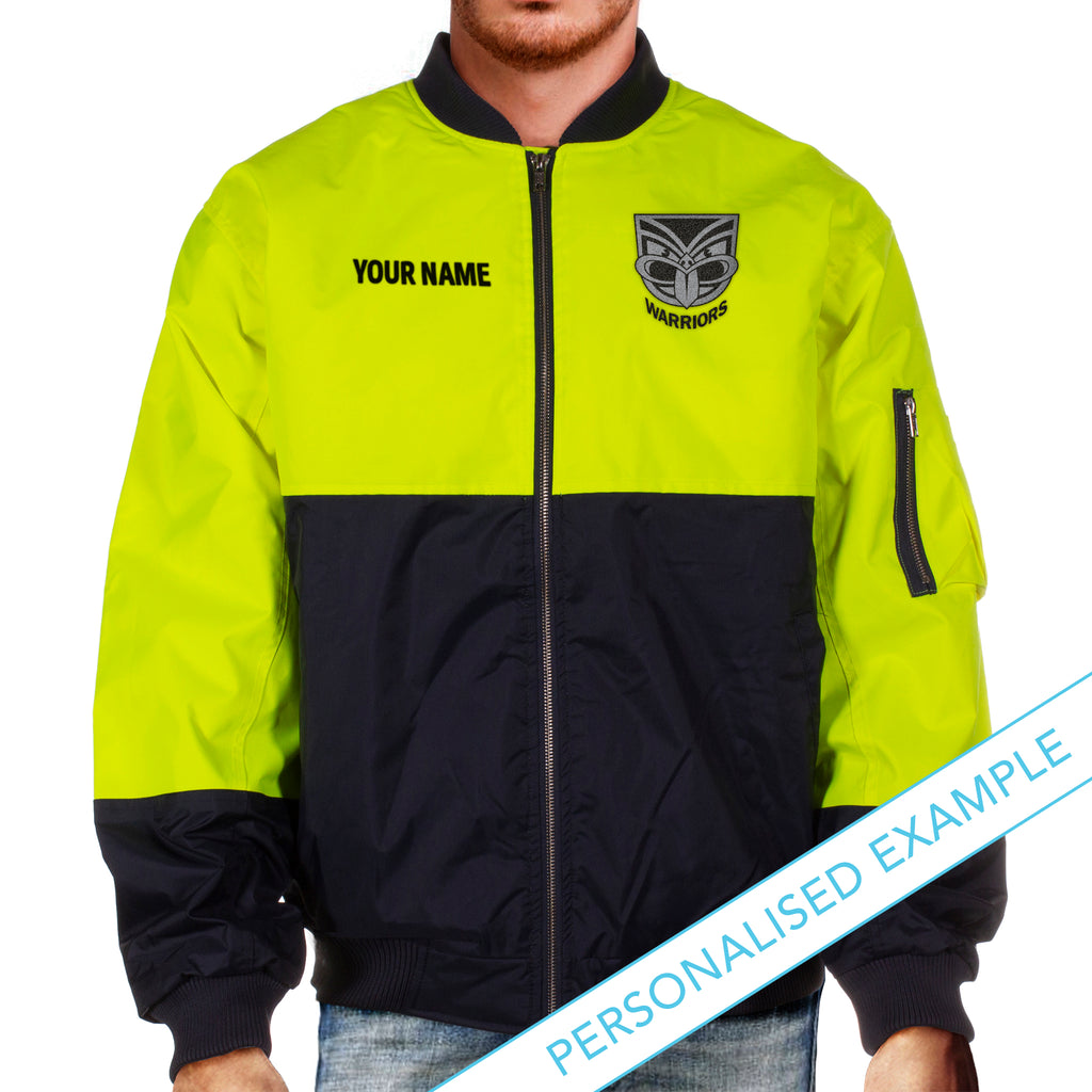 NRL Warriors Hi-Vis Flying Jacket