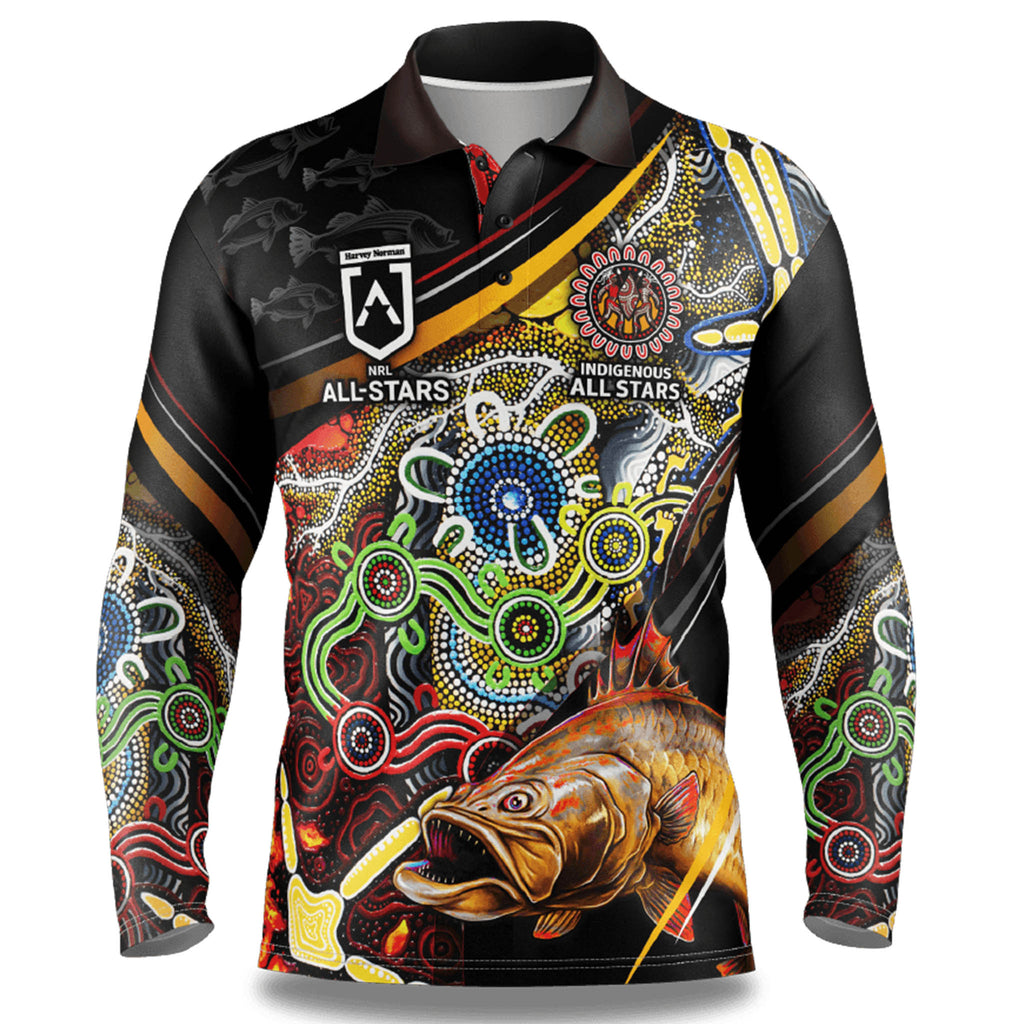 NRL Indigenous All Stars Fishing Shirt - Youth