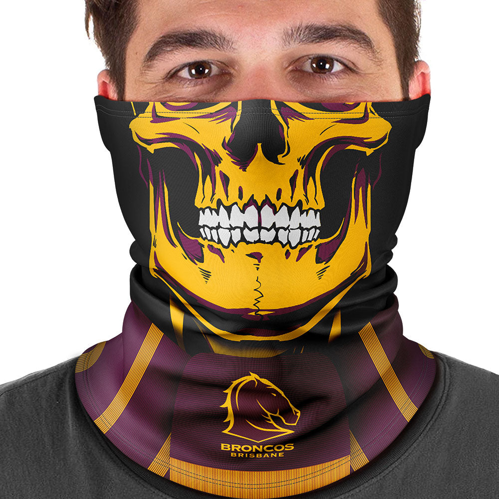 "NRL Broncos ""Skull-Face"" Multi-Purpose Scarf"
