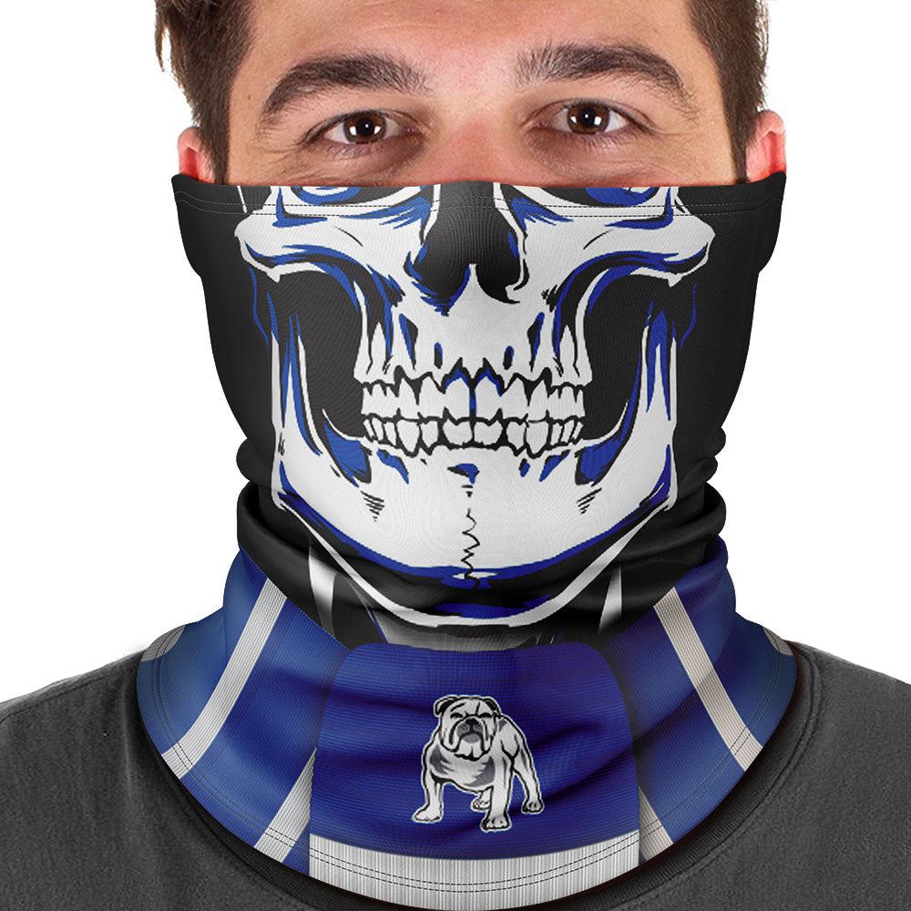 "NRL Bulldogs ""Skull-Face"" Multi-Purpose Scarf"