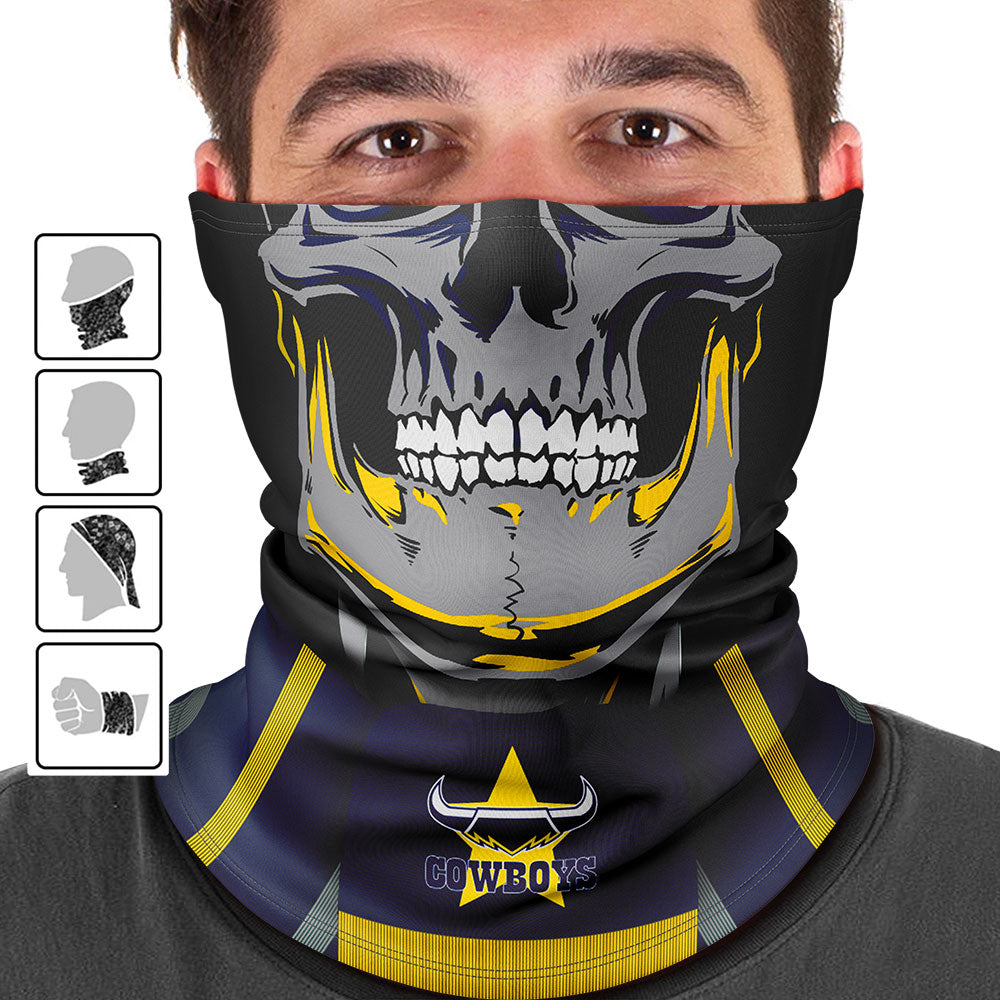 "NRL Cowboys ""Skull-Face"" Multi-Purpose Scarf"