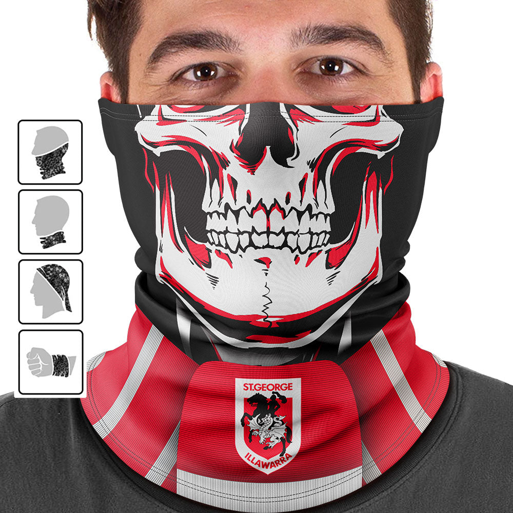 "NRL Dragons ""Skull-Face"" Multi-Purpose Scarf"
