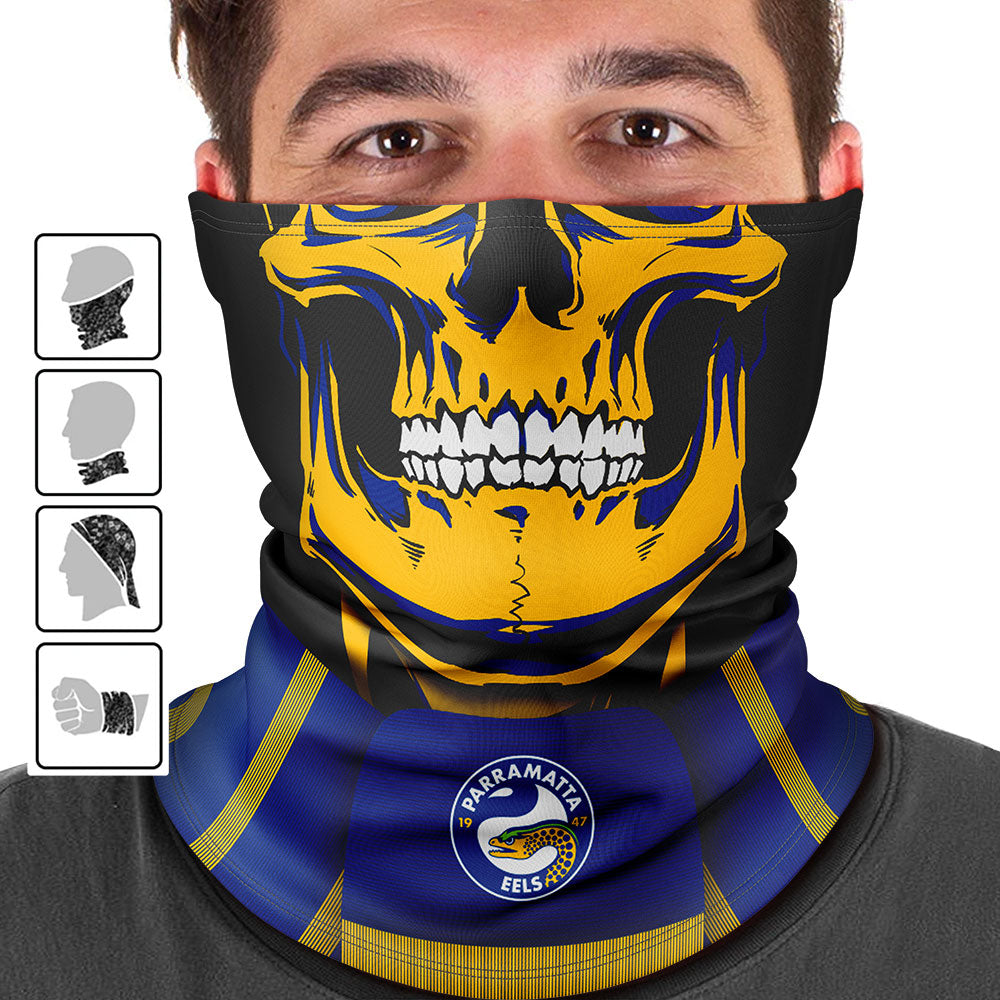 "NRL Eels ""Skull-Face"" Multi-Purpose Scarf"