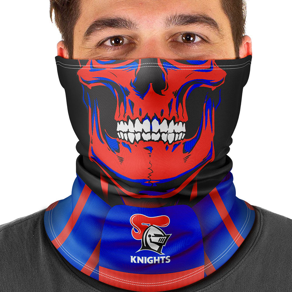 "NRL Knights ""Skull-Face"" Multi-Purpose Scarf"
