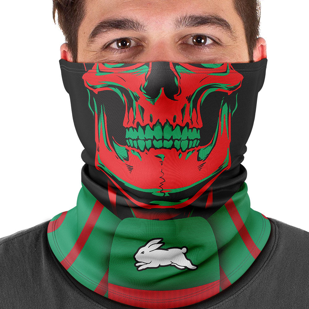 "NRL Rabbitohs ""Skull-Face"" Multi-Purpose Scarf"
