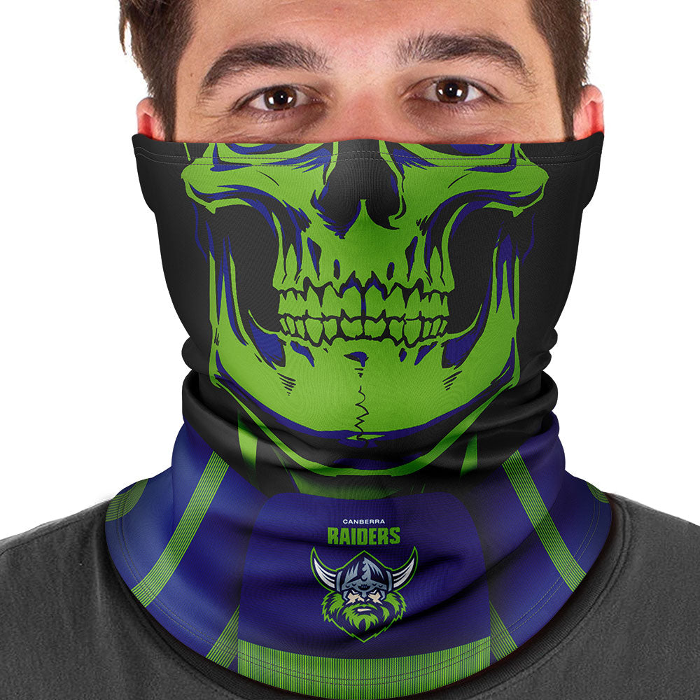 "NRL Raiders ""Skull-Face"" Multi-Purpose Scarf"