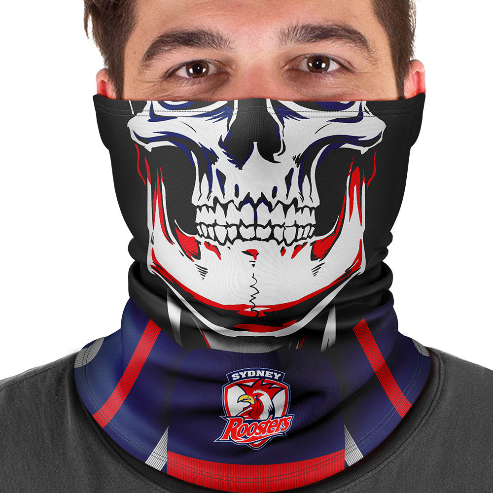 "NRL Roosters ""Skull-Face"" Multi-Purpose Scarf"