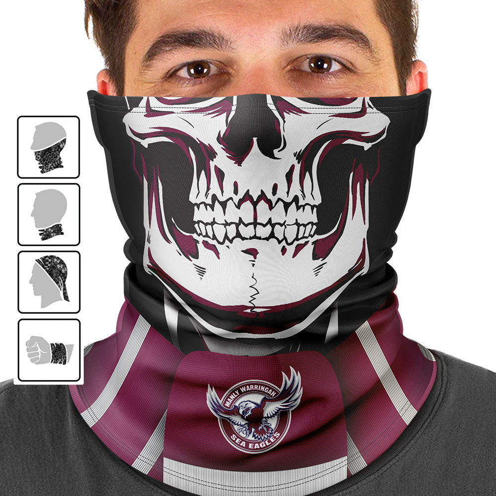 "NRL Sea Eagles ""Skull-Face"" Multi-Purpose Scarf"