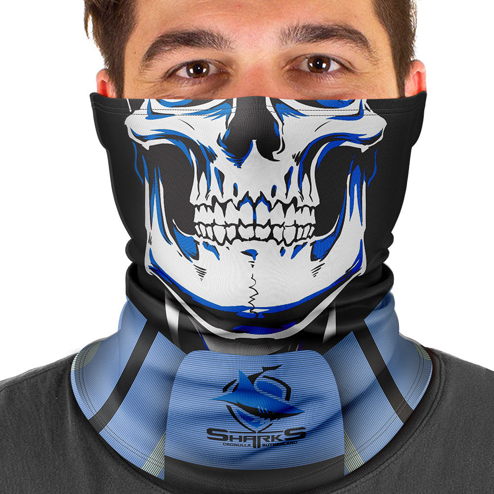 "NRL Sharks ""Skull-Face"" Multi-Purpose Scarf"