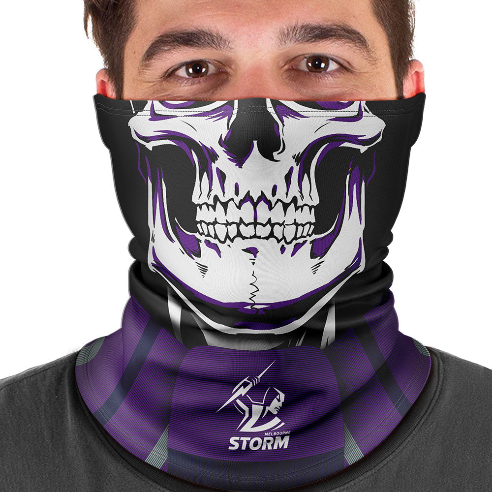 "NRL Storm ""Skull-Face"" Multi-Purpose Scarf"