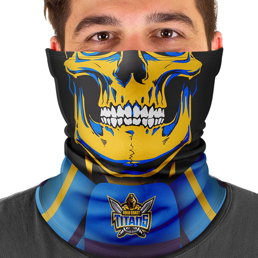 "NRL Titans ""Skull-Face"" Multi-Purpose Scarf"