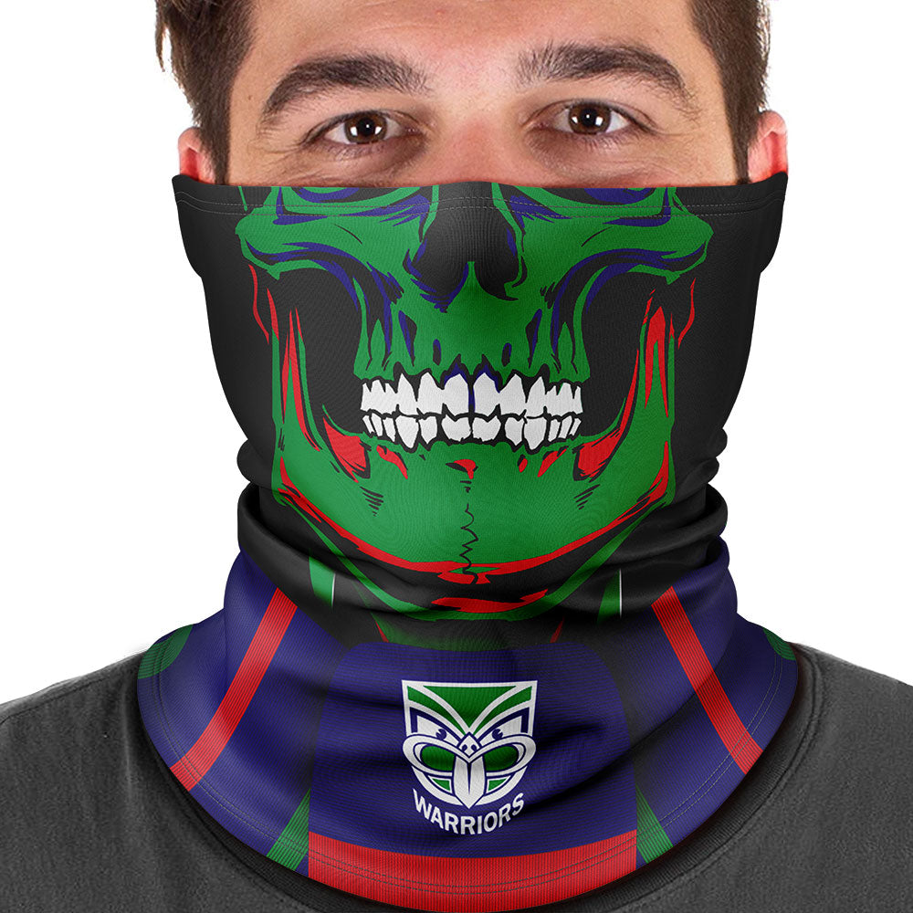 "NRL Warriors ""Skull-Face"" Multi-Purpose Scarf"