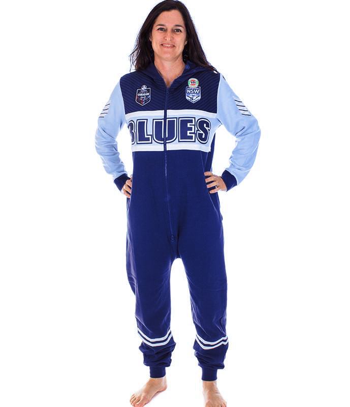NSW Blues Adult Onesie Ashtabula
