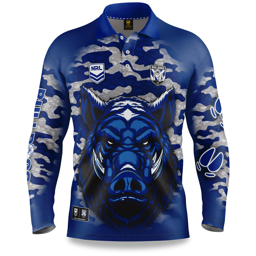 "NRL Bulldogs ""Razorback"" Outback Shirts - Youth"