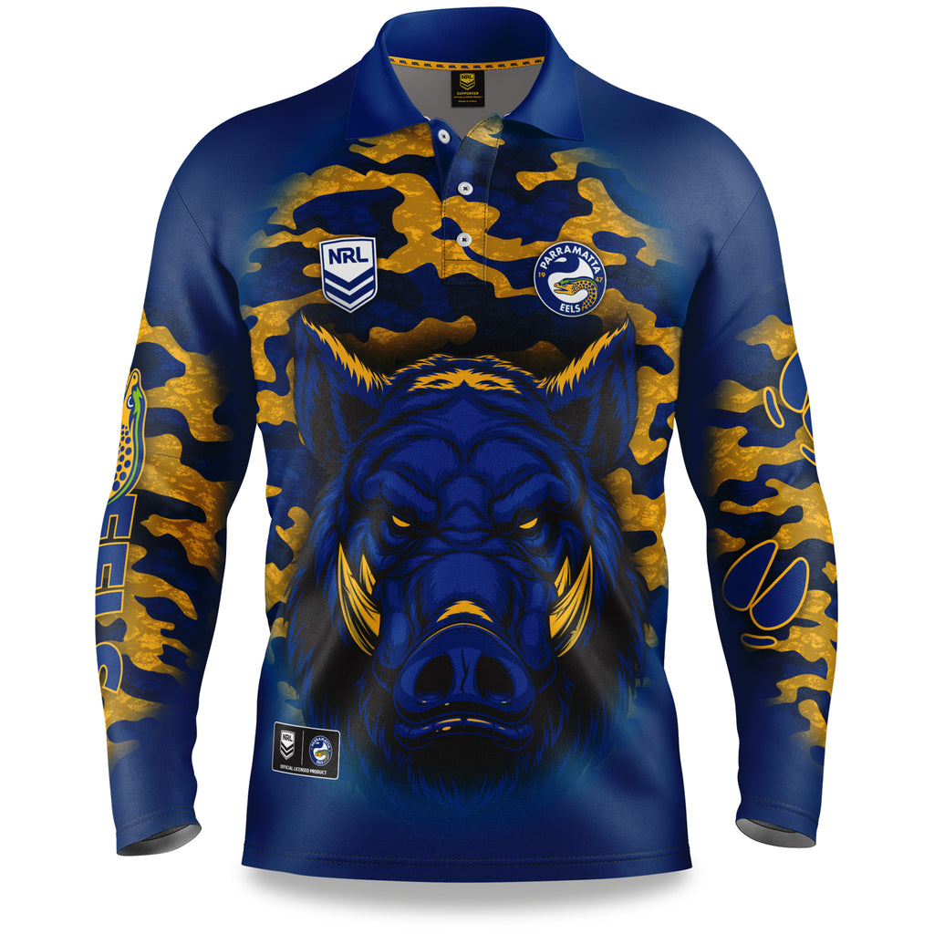 "NRL Eels ""Razorback"" Outback Shirts - Youth"