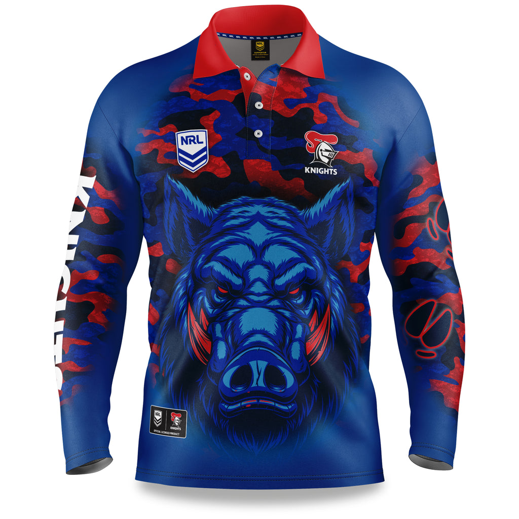 "NRL Knights ""Razorback"" Outback Shirts - Adult"