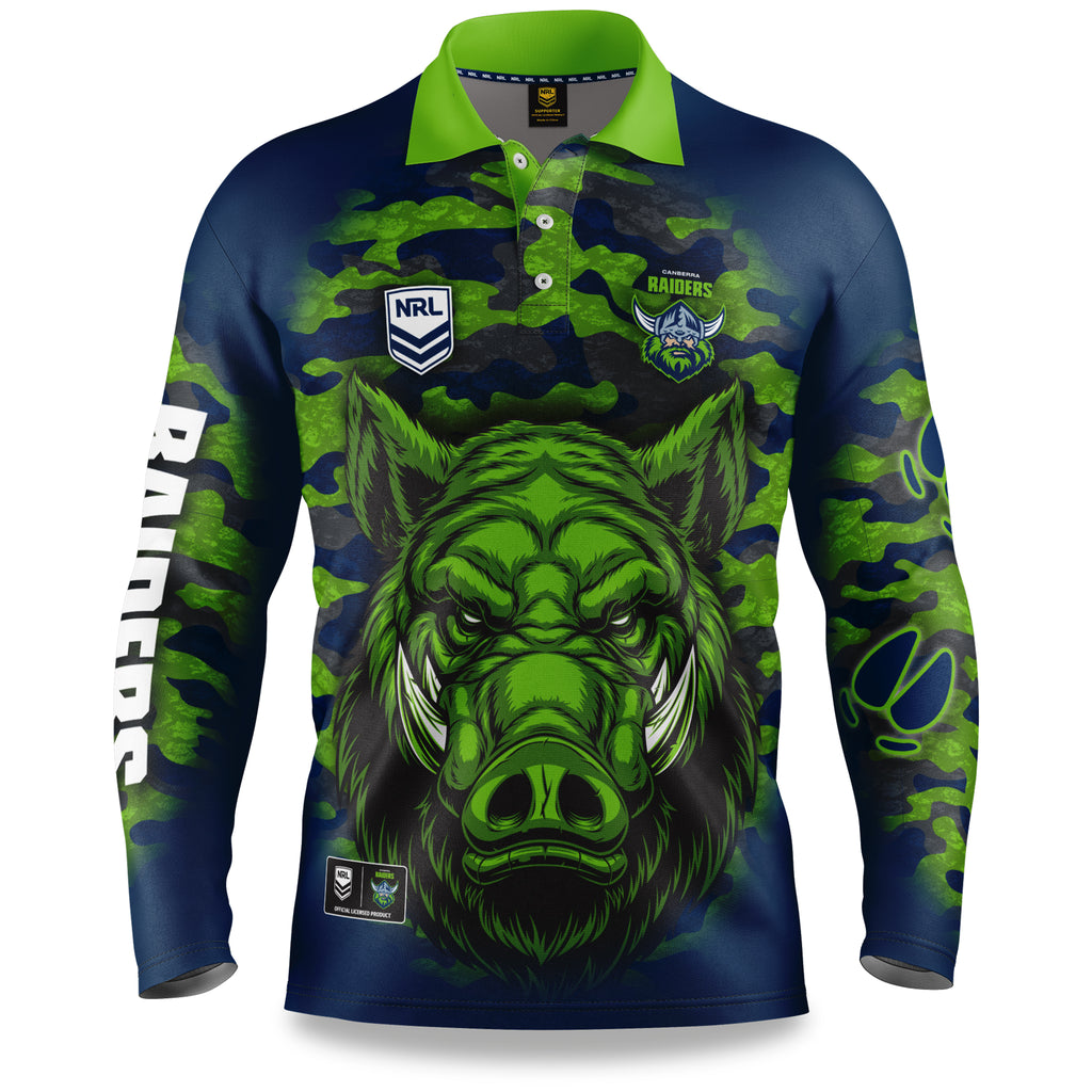 "NRL Raiders ""Razorback"" Outback Shirts - Adult"