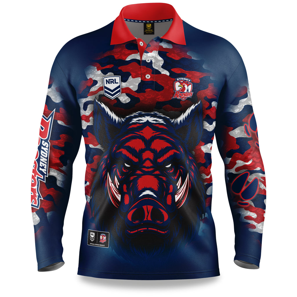 "NRL Roosters ""Razorback"" Outback Shirts - Adult"