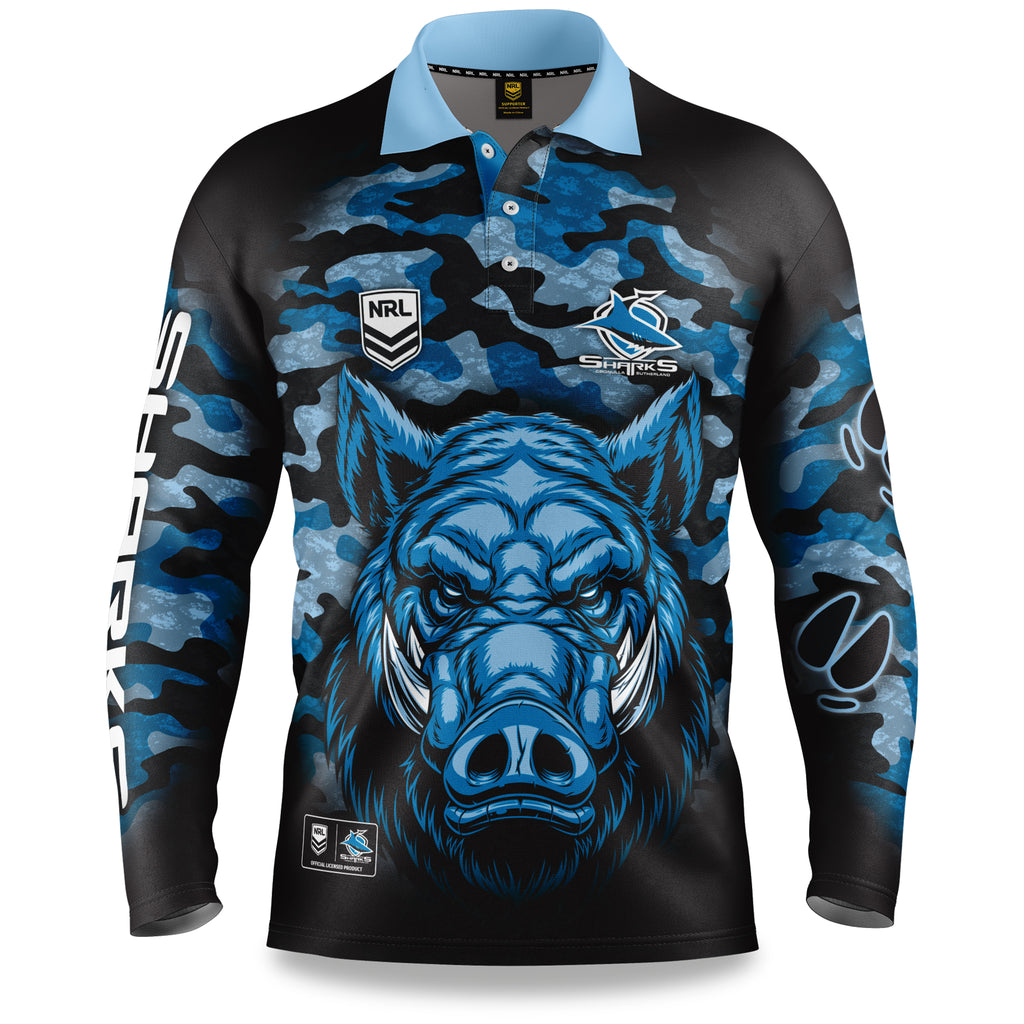 "NRL Sharks ""Razorback"" Outback Shirts - Youth"