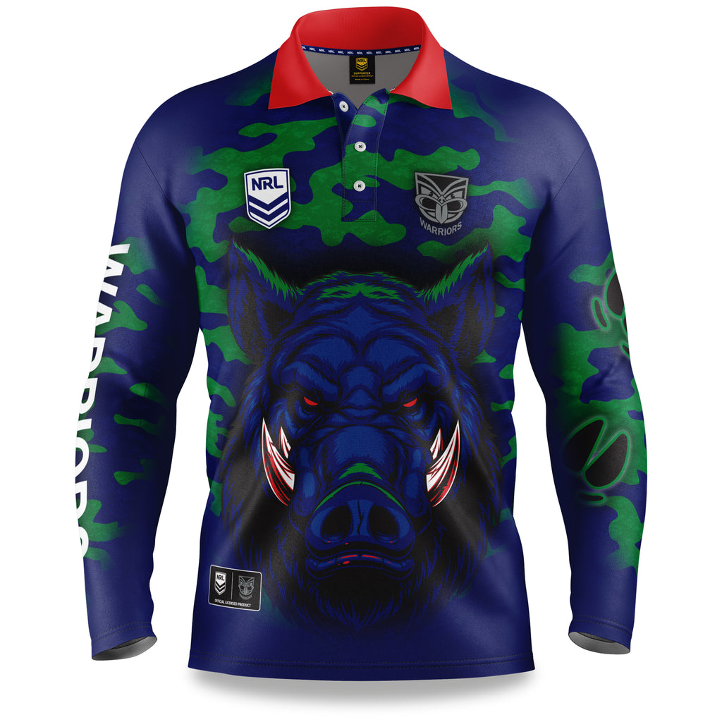 "NRL Warriors ""Razorback"" Outback Shirts - Adult"