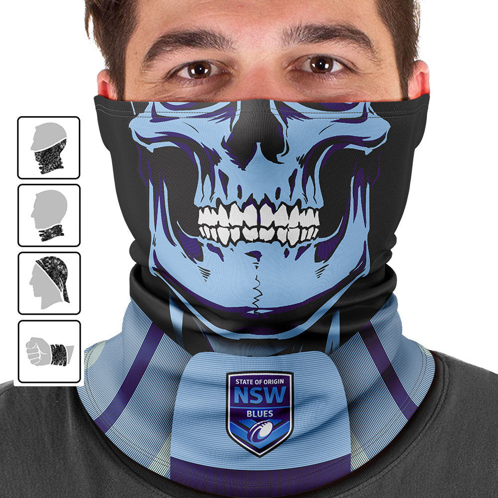 "NSW Blues ""Skull-Face"" Multi-Purpose Scarf"