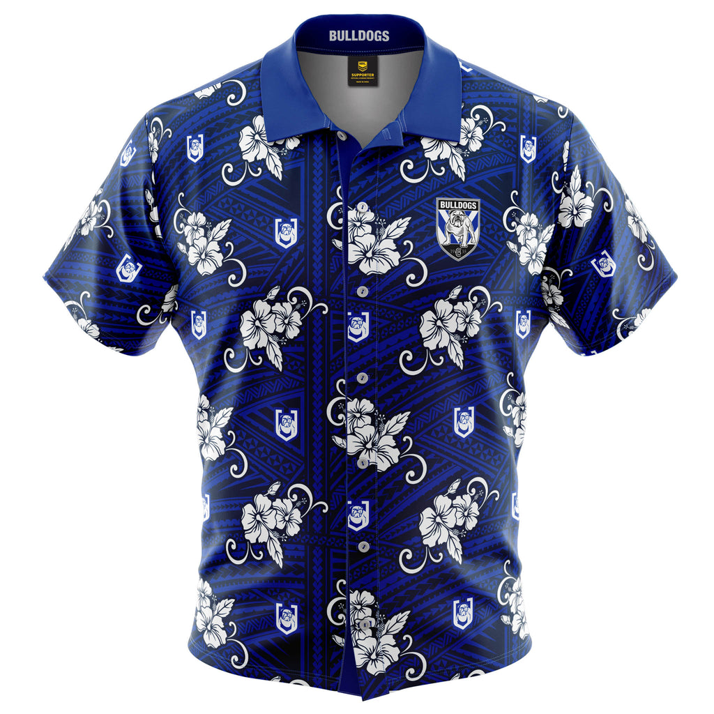 NRL Bulldogs Tribal Button Up Shirt
