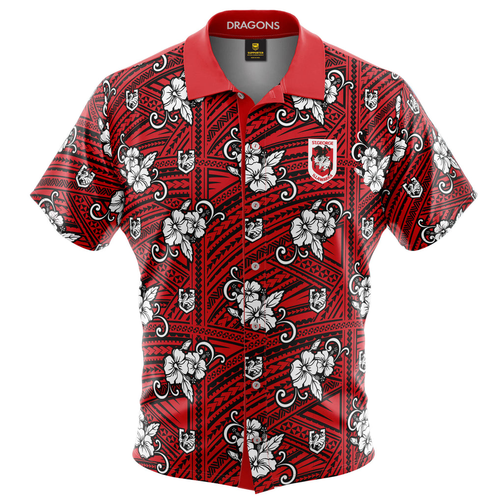NRL Dragons Tribal Button Up Shirt