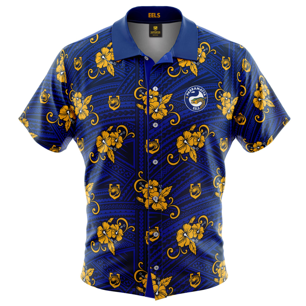 NRL Eels Tribal Button Up Shirt
