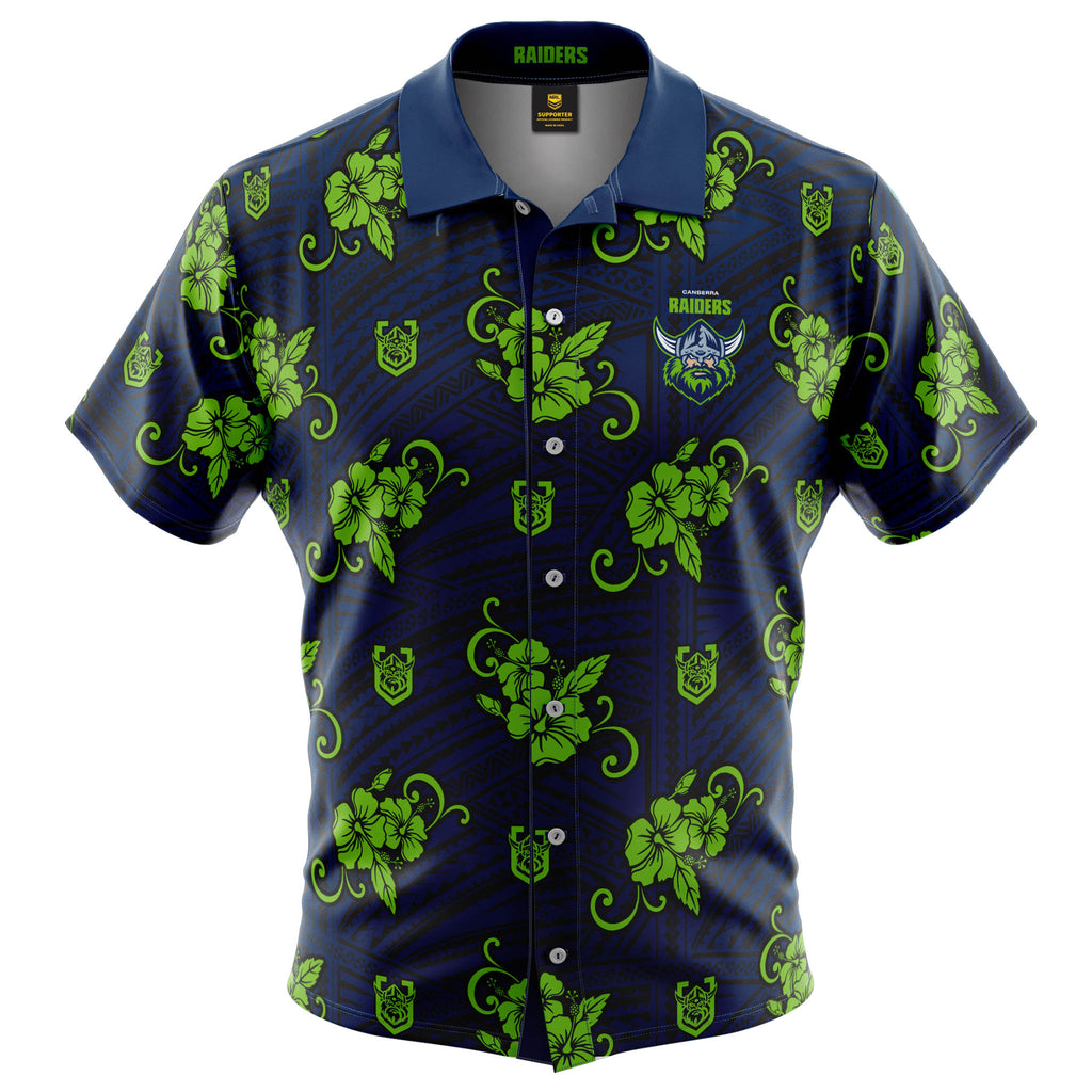 NRL Raiders Tribal Button Up Shirt