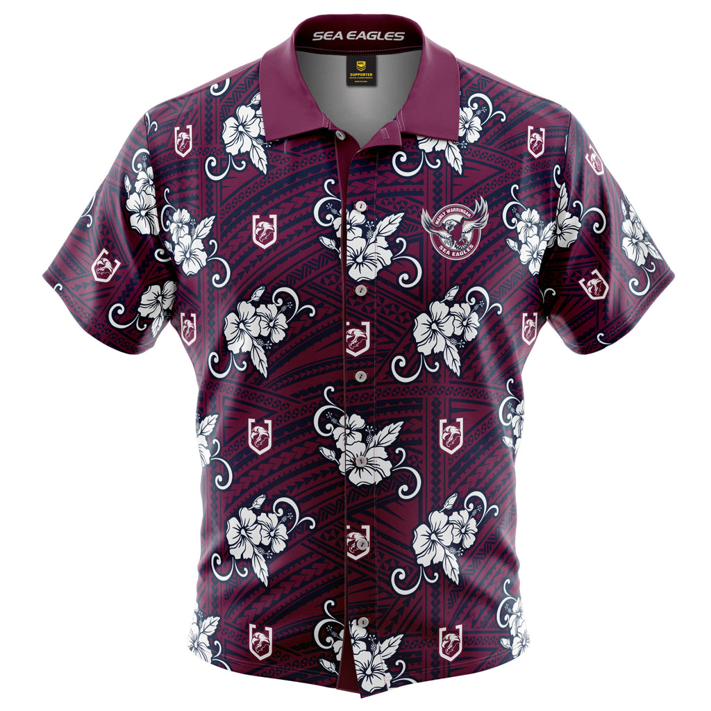 NRL Sea Eagles Tribal Button Up Shirt