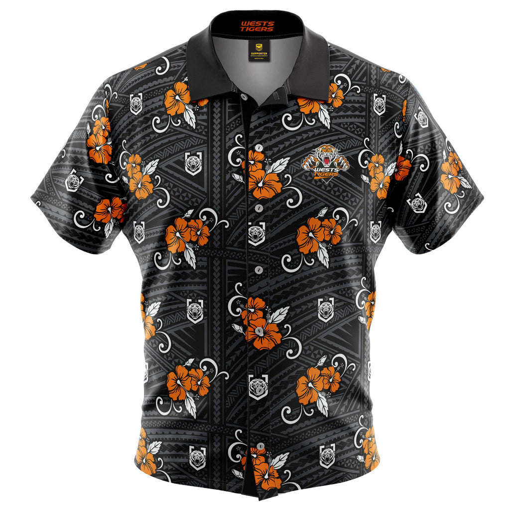 NRL Wests Tigers Tribal Button Up Shirt