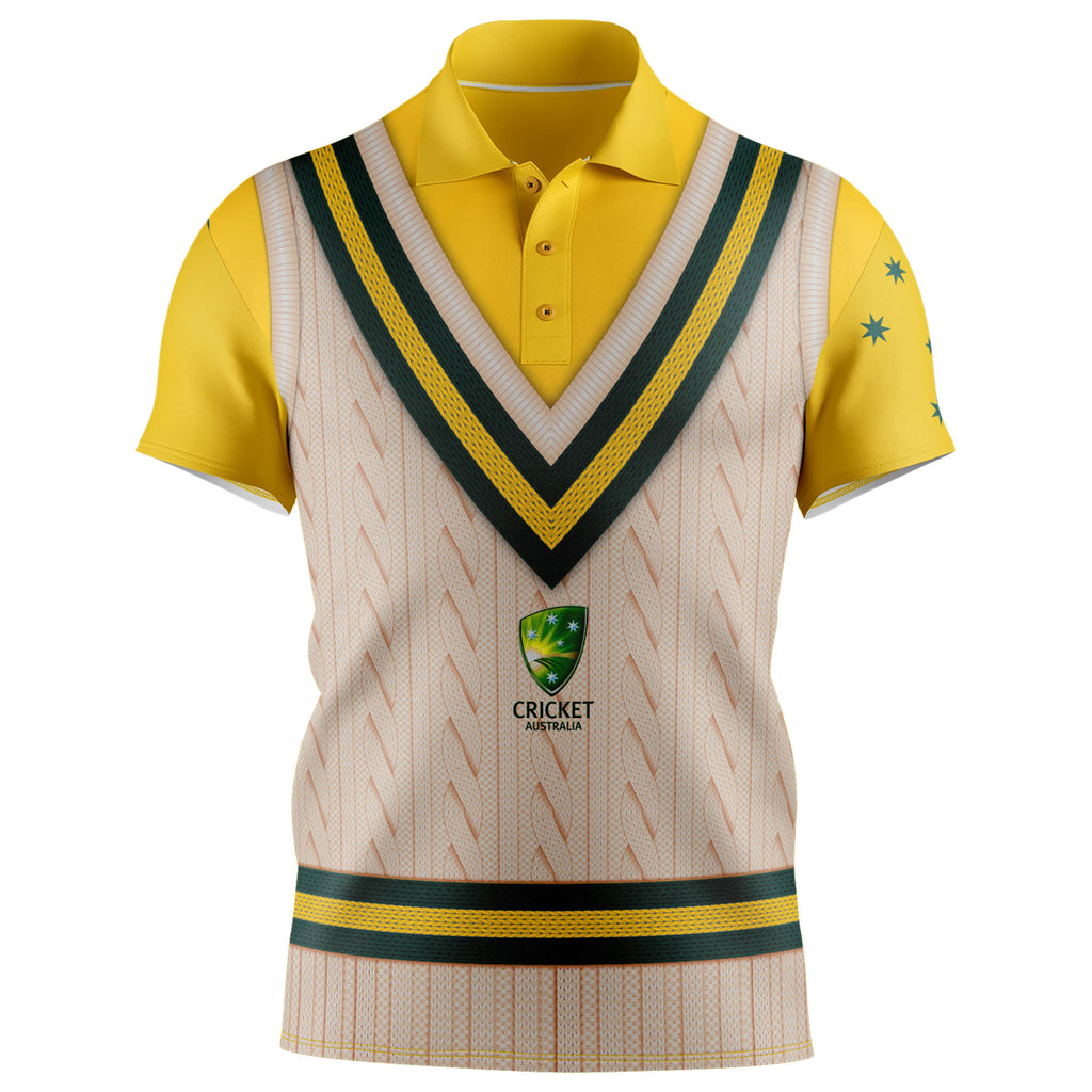 Cricket Australia Sleeveless Vest Polo - Adult