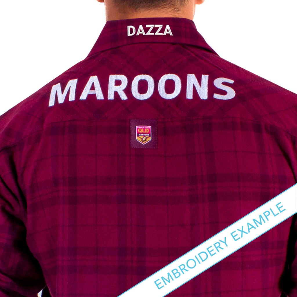 QLD Maroons Flannel Shirt