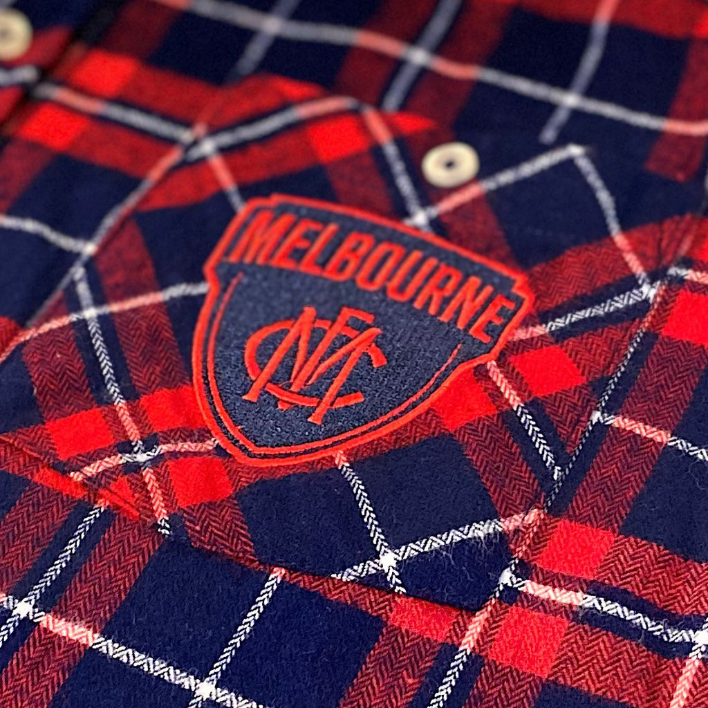 AFL Melbourne Demons Flannel Shirt Ashtabula