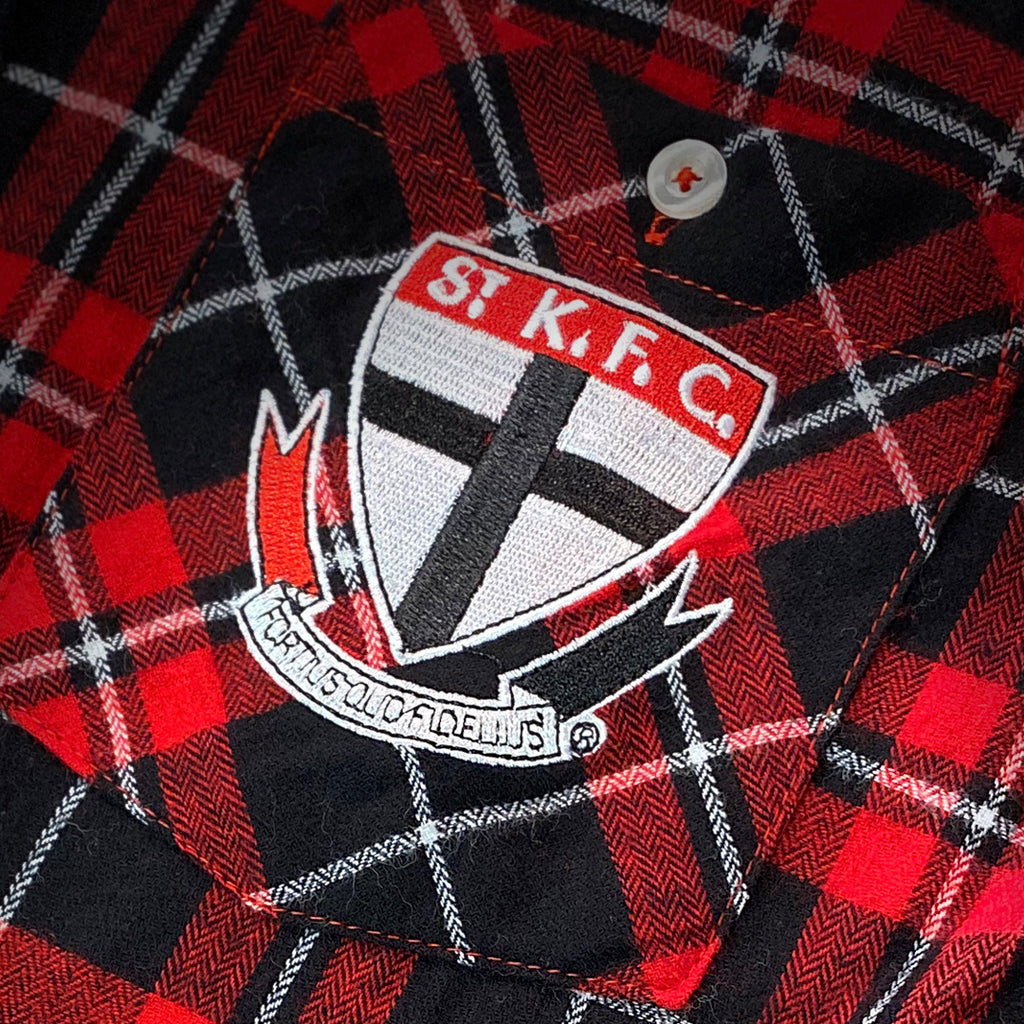 AFL St Kilda Flannel Shirt Ashtabula