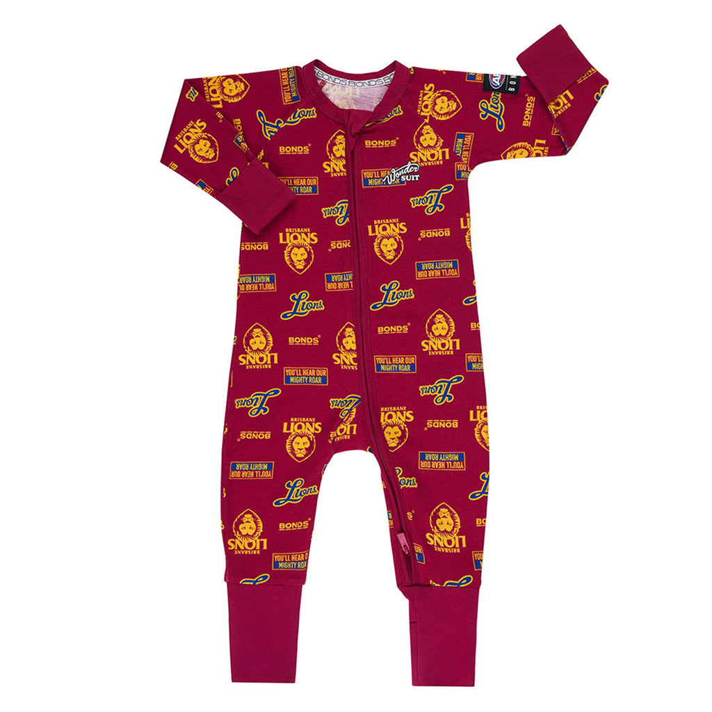 AFL Brisbane Lions Zip Wondersuit