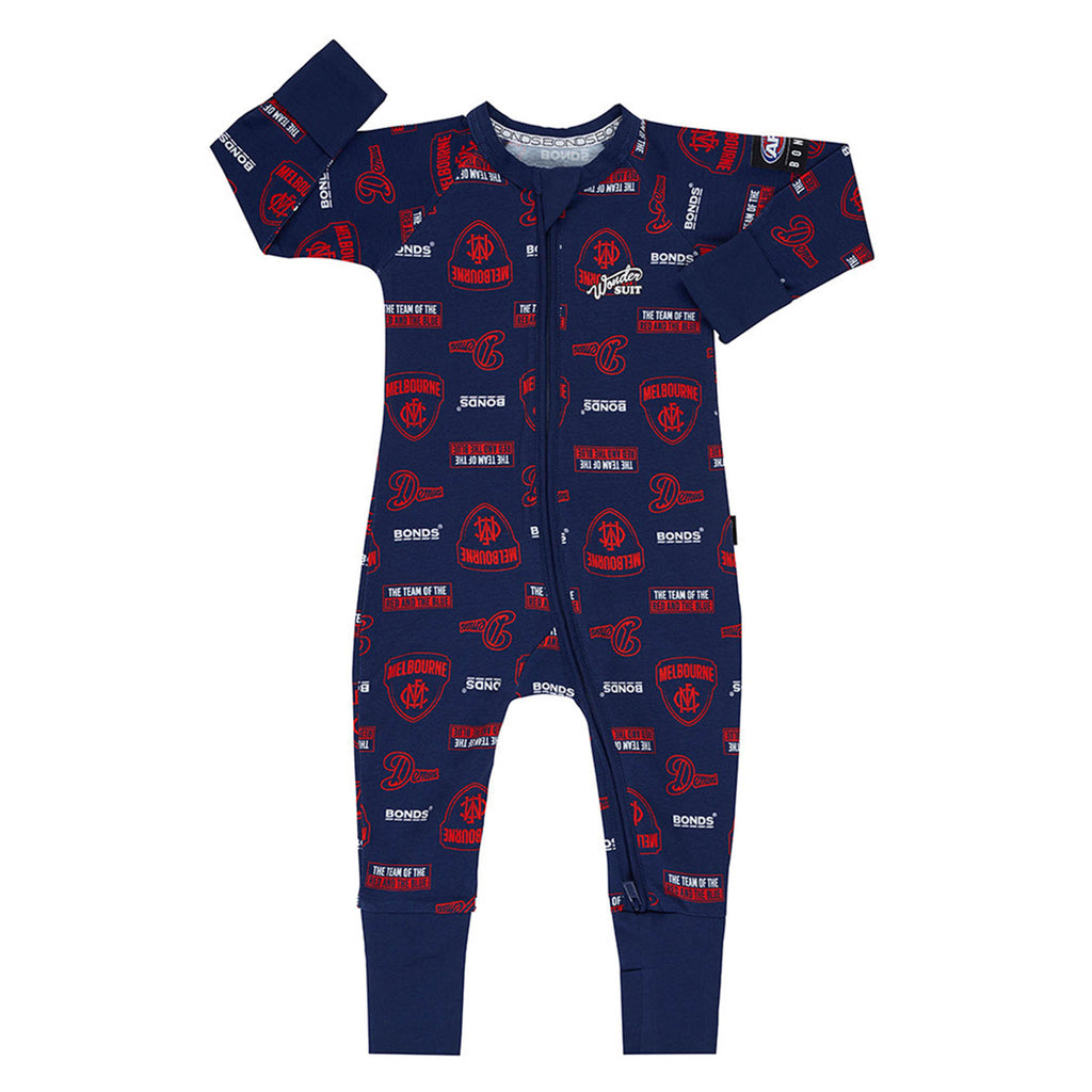 AFL Melbourne Demons Zip Wondersuit