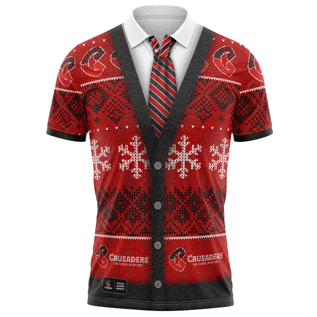 NZ Crusaders XMAS Polo Shirt